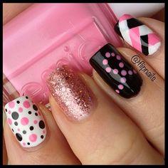 Breast Cancer Awareness by flipnails #nail #nails #nailart