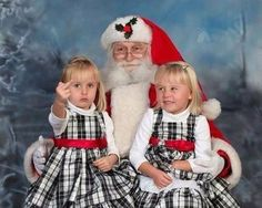 Hahaha Santa picture - $10, Matching dresses - $90, teaching your child to flip off cameras - Priceless