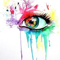 deviantART Shop Framed Wall Art Prints & Canvas   Traditional Art   Paintings   Rainbow Eye by artist *Lucky978