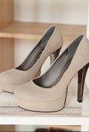 Fashionable Simple Style High-heeled Shoes Beige $13.51
