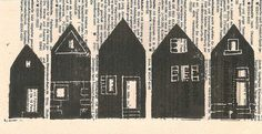 linocut house print (by studio meyer)