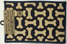 PB PAWS PET COLLECTION BY PARK B SMITH Dog Treats Tapestry Indoor Outdoor Pet Mat Navy 13 x 19 *** See this great product. Note: It's an affiliate link to Amazon.