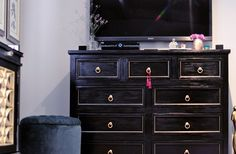 Dresser Makeover | Before & After | From Rustic to Glam | ...love Maegan