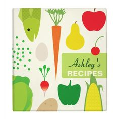 Personalized Food Recipes Binder - Customized