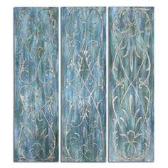 French Quarter Trellis Wall Panels Set of 3