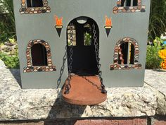 9 Best Painted Wooden Castle From Michaels Images Wooden Castle