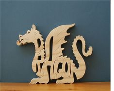Dragon Toy Wood Puzzle Very Detailed Cut On Scroll Saw