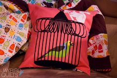 How to Make a Basic Pillow + How to Finish a Pillow with Binding | Sew Mama Sew |