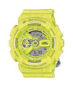 Casio G-Shock Women's S Series Quartz Ana-Digi Yellow Watch G Shock Watches, Casio G Shock, Watches For Men, Car Led Lights, Elapsed Time, Watch Brands, Digital Watch, Casio Watch, Cool Style