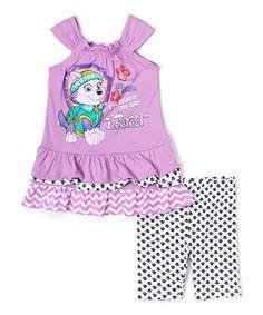 Loving this Purple & Pink PAW Patrol Dress & Shorts - Toddler on #zulily! #zulilyfinds