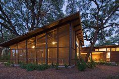 screemed porch for small house. Hacienda JaJa - Lake|Flato Architects
