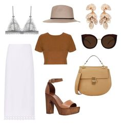 """""""Bohemian Beach Party"""" by h-oe ❤ liked on Polyvore featuring Carvela, Edun, Quay, Topshop, Pasquale Bruni and Chloé"""