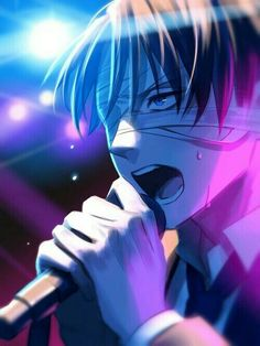 Levi Ackerman, No Name, microphone, bandages, singing; Attack on Titan: Junior High