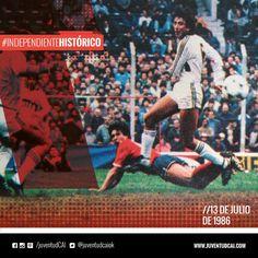 #IndependienteHistorico En Avellaneda, por la fecha 1 del Torneo 86/87, #Independiente derrota a Platense por 2-1