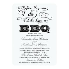 Before They Say I Do Lets Have A BBQ!