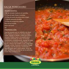 Salsa Pomodoro. Confort Food, Keto Recipes, Healthy Recipes, Stevia, Bakery, Recipies, Curry, Pizza, Lunch
