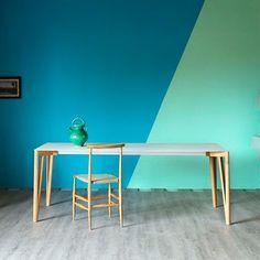 Extending rectangular aluminium dining table DECAPO by Miniforms design Francesco Beghetto Studio