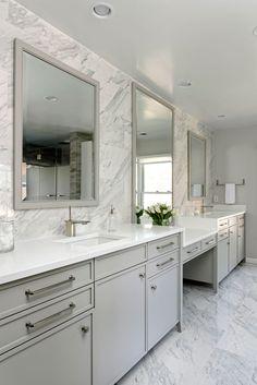 White Marble Bathroom in Washington DC