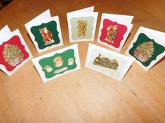 Old World Christmas Greeting Cards Variety Set by DLDesignerCrafts
