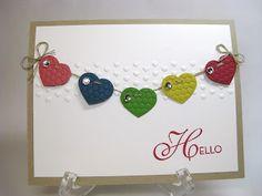 Loving this handmade heart card.