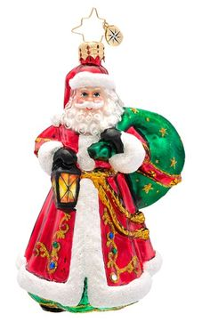 Christopher Radko 'Carrying the Joy' Handcrafted Glass Santa Ornament available at #Nordstrom