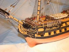 HMS Bellona scale model ship