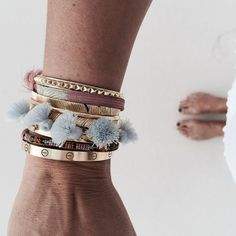 love this bracelet stack! especially loving the tassels thrown in there to spice things up!