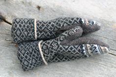Upcycled felted wool sweater mittens Brown & by inspiringdreams, $25.00