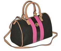 Tommy Hilfiger Women Canvas Stripe Convertible Satchel - http://bags.bloggor.org/tommy-hilfiger-women-canvas-stripe-convertible-satchel/