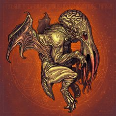 """It's well known that the great Cthulhu has a particular bond with artists of all sorts. Lovecraft's """"The Call of Cthulhu"""" it's docu. Hp Lovecraft, Lovecraft Cthulhu, Art Cthulhu, Call Of Cthulhu, Yog Sothoth, Lovecraftian Horror, Eldritch Horror, Creature Concept, Love Craft"""