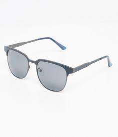 Óculos de sol Modelo quadrado Hastes em metal Lentes em acetato Proteção  contra raios UVA   55443d15ed