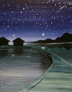 cambodian twilight painting
