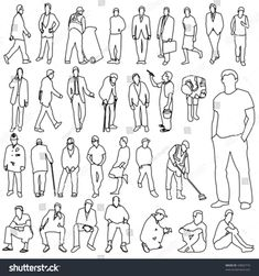 stock-vector-lots-of-men-line-style-drawing-43802710.jpg (1500×1600)