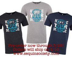 Hustle Your Muscle Kettlebell Fitness CrossFit T-Shirt for CrossFit and Fitness