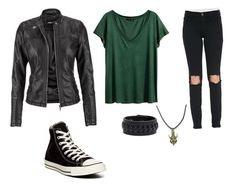 """""""Me."""" by blazery ❤ liked on Polyvore featuring H&M, Frame Denim, Frye, maurices and Converse"""