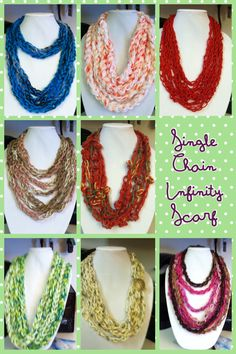Single chain infinity scarved