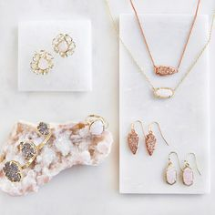 Natural stone, eye-catching sparkle. Layer a delicate drop to make a bold statement.