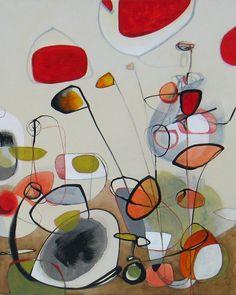 "Saatchi Online Artist: Julia Pinkham; Acrylic, 2012, Painting ""D-Construction"""