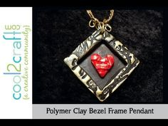 How to Make a Polymer Clay Bezel Frame Pendant by Candace Jedrowicz