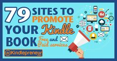 79 Free Book Promotion Sites to Advertise your Ebook on Book Publishing Companies, Self Publishing, Free Kindle Books, Free Ebooks, Amazon Sales Rank, Writing A Book, Writing Tips, 3d Printing, Promotion