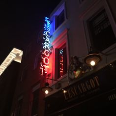 L'Escargot in Soho - great French restaurant and a wonderful private club.