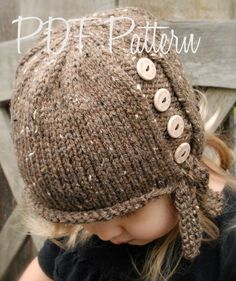 Knitting PATTERNThe Iviy Cloche' Toddler Child by Thevelvetacorn, $5.50