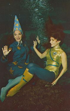 Moonmaids - Weeki Wachee, Florida.  This is one of the vintage originals I'd like to serendipitously find in a pile of old postcards.