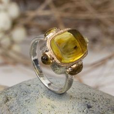 Handmade silver, gold and Baltic amber men's ring with fife fossil insects.  #jewellerydesign #jewellerymaking #jeweller #ring #handmadejewellery #amberjewelry #designerjewelry #designerjewellery #nickolasjewellery #goldring #goldjewelry #ювелирка #uniquejewelry #goldpendant #fossils #琥珀与昆虫 #在琥珀的蚊子 #琥珀色  #jurassic #minerals #bernstein