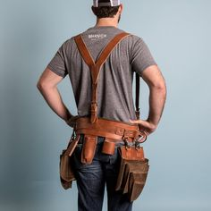 Build-Your-Own Tool Belt | Magnolia Leather Tool Pouches, Tool Belt Pouch, Leather Tool Belt, Leather Tooling, Tool Belt Suspenders, Leather Suspenders, Leather Craft Tools, Leather Projects, Best Tool Belt
