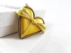 Belle Disney Princess heart pendant by MissEsAccessories on Etsy