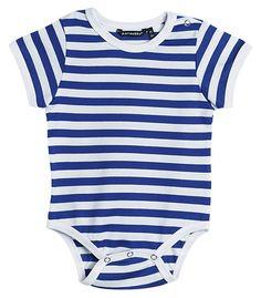 Marimekko Vaude Short-Sleeved Striped Onesie Blue/White | Kiitos Marimekko
