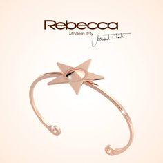 Fallen from the stars...  18kt gold plated bronze Star bracelet, choose your favorite color on rebecca.it!  #rebeccajewels#bracelet#stars