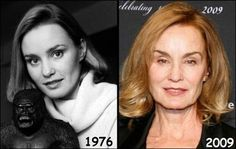 Jessica Lange then and now Julie Christie, Under The Knife, Bruce Jenner, Celebrities Then And Now, Old Movie Stars, Olivia Newton John, Loose Skin, Celebrity Look, Actresses
