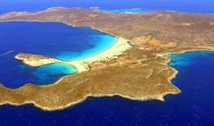 Discover Elafonisos in Greece - The Island with the only Caribbean Beach in Europe - Guidora Greek Isles, Small Island, Love At First Sight, Crete, Aerial View, Caribbean, Places To Visit, Around The Worlds, Europe
